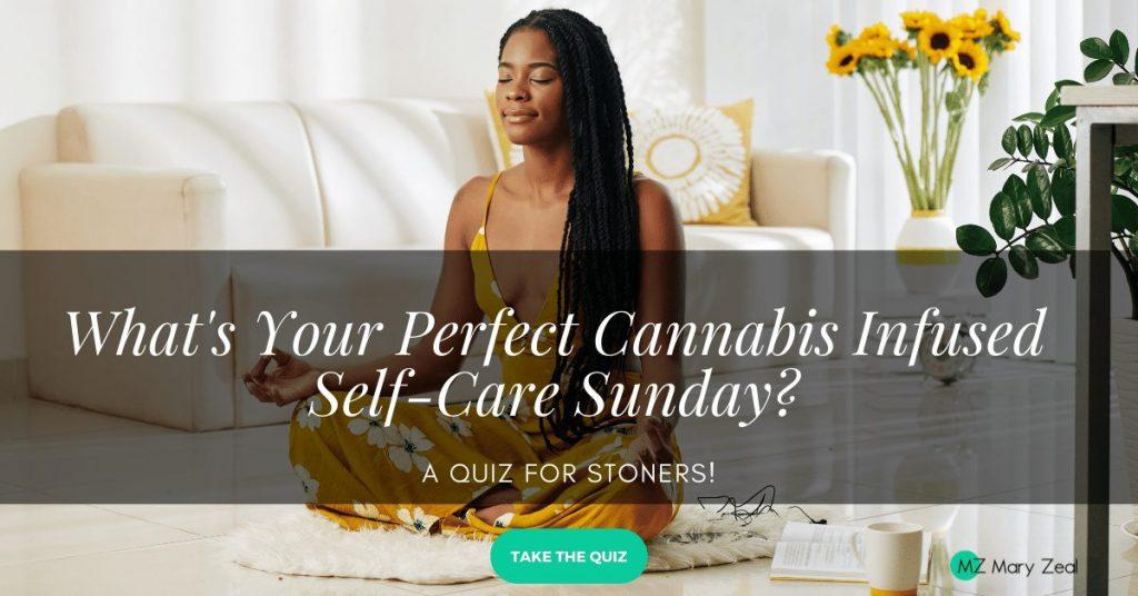 self care sunday quiz black woman sitting on floor